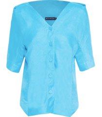 camisa feminina amite - azul