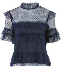 blus rachel dotted blouse