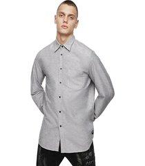 camisa s moi r shirt gris diesel