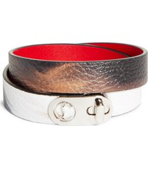 women's christian louboutin elisa leather double wrap bracelet