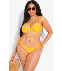 plus gerecyclede bikini top met beugel, orange