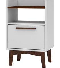 mesa de cabeceira 1 porta bpi 113-209 branco/c