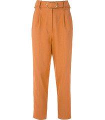nk cotton flame claire trousers - orange