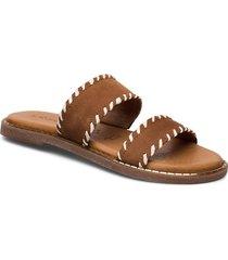 woms slides shoes summer shoes flat sandals brun tamaris