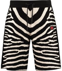 burberry wool-blend jacquard shorts