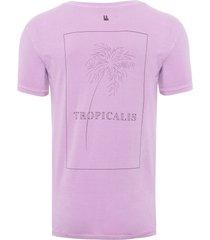 t-shirt masculina tropicalis - roxo