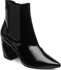 biacandy flared boot shoes boots ankle boots ankle boots with heel svart bianco