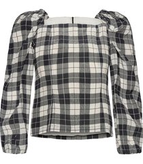 merlina blouse lange mouwen zwart baum und pferdgarten
