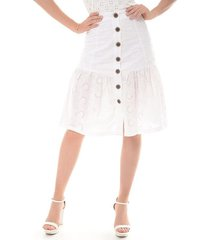 falda para mujer en algodón blanco color-blanco-talla-m