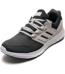 tenis running gris-beige-blanco adidas performance galaxy 4