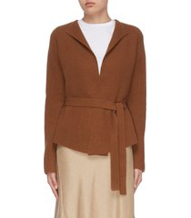 belted rib knit jacket