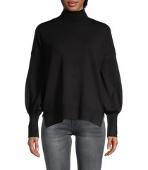 french connection women's babysoft turtleneck sweater - black - size xs