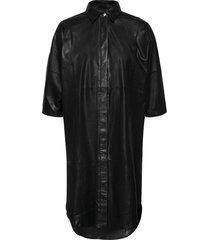 long shirt dress knälång klänning svart depeche