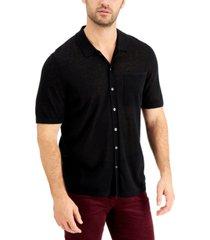 alfani men's linen pocket shirt, created for macy's
