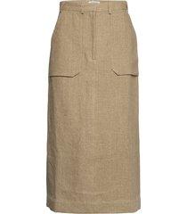 elette knälång kjol beige tiger of sweden
