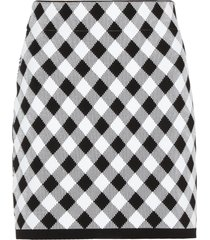 balmain checked mini skirt