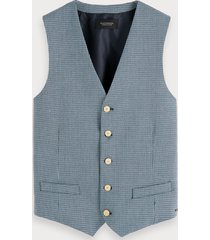 scotch & soda yarn-dyed gilet