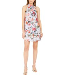 vince camuto petite floral-print bow shift dress