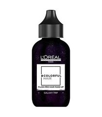 coloração temporária l'oréal professionnel colorful hair flash pro hair make-up cor galaxy trip