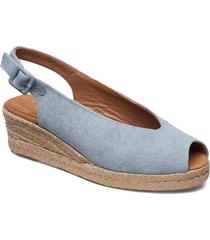 casbas_ecl sandalette med klack espadrilles blå unisa