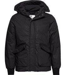 short hooded jacket with inside quilting fodrad jacka svart scotch & soda