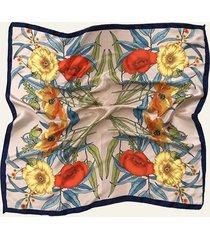 pañuelo azul nuevas historias  par de flores ba1396-48
