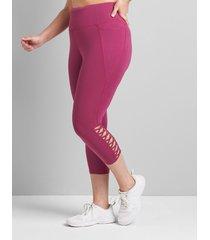 lane bryant women's livi high-rise signature stretch capri legging - strappy hem 38/40 boysenberry