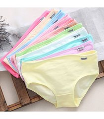 10 pack - sexy women's solid cotton blend panties briefs underwear shorts