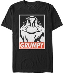 disney men's snow white i'm with grumpy short sleeve t-shirt