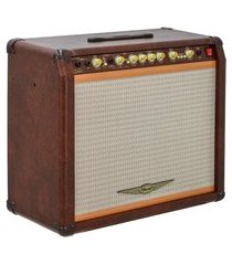 cubo amplificador para guitarra oneal ocg1201 110w marrom 127/220v