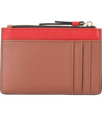 cerruti 1881 camel card holder - brown