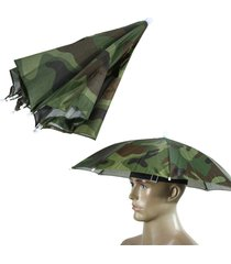 foldable fishing hiking golf beach headwear handsfree parasol umbrella hat cap