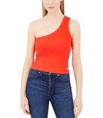 calvin klein jeans one-shoulder tank top