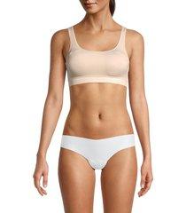 yummie women's padded sports bra - nude - size m/l