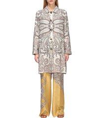 etro coat etro silk coat with paisley print