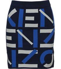 kenzo sport jacquard monogram mini skirt