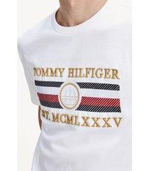 camiseta stripe relaxed blanco tommy hilfiger