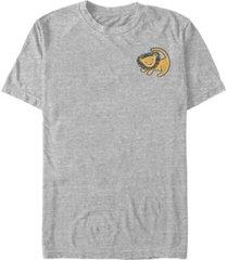 fifth sun pixar-lion king men's rafiki lifting simba pocket short sleeve t-shirt