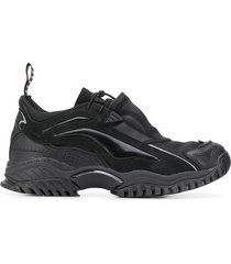 random identities contrast panel toggle detail sneakers - black