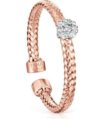 anillo oro rosa con roseta de diamantes 918635070