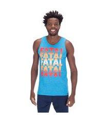 camiseta regata fatal estampada 25184 - masculina
