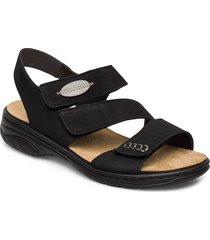 64573-00 shoes summer shoes flat sandals svart rieker