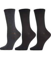3-pack luxury buttersoft crew socks