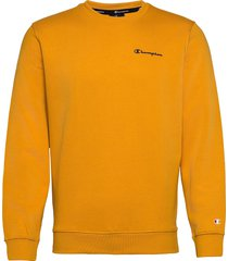 crewneck sweatshirt sweat-shirt tröja gul champion