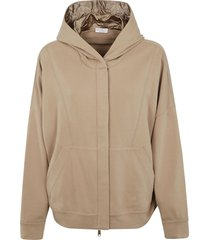 brunello cucinelli front zip hoodie