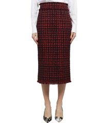 dolce & gabbana tweed skirt