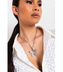 akira fly girl bling butterfly necklace