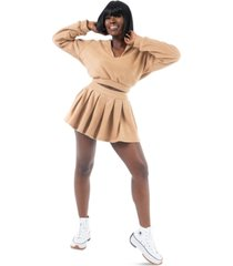 grayscale pleated tennis skirt
