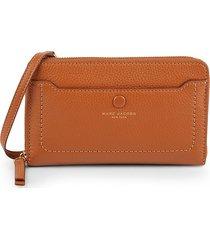 marc jacobs women's empire city leather wallet crossbody bag - black
