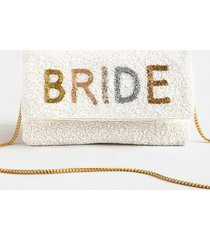 shirdee imports bride clutch - white